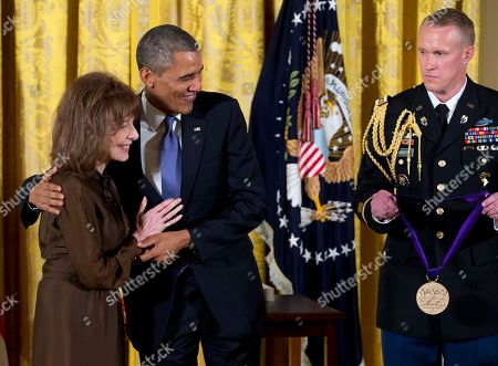 Barack Obama, Elaine May President Barack Obama awards Elaine May the 2012 National Medal of Arts for her contributions to American comedy, during a ceremony in the East Room of White House, Wednesday in Washington