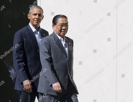 Barack Obama, Choummaly Sayasone President Barack Obama and Laos President Choummaly Sayasone walk out together before posing for a group photo with leaders of ASEAN, the 10-nation Association of Southeast Asian Nations, at the Annenberg Retreat at Sunnylands in Rancho Mirage, Calif. President Obama and leaders of Southeast Asia nations are wrapping up a two-day summit conceived to show U.S. seriousness about staying engaged and keeping a high profile in a region where a rising China has rattled American allies