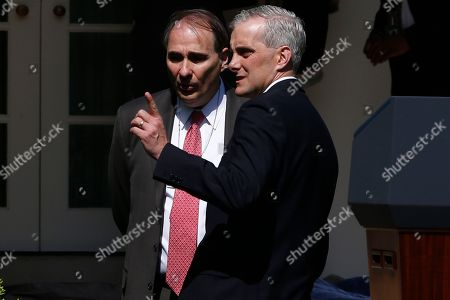 Denis McDonough, David Axelrod Former senior advisor David Axelrod, left, and White House Chief of Staff Denis McDonough talk in the Rose Garden of the White House in Washington after President Barack Obama nominated Penny Pritzker as Secretary of Commerce and Michael Froman as U.S. Trade Representative