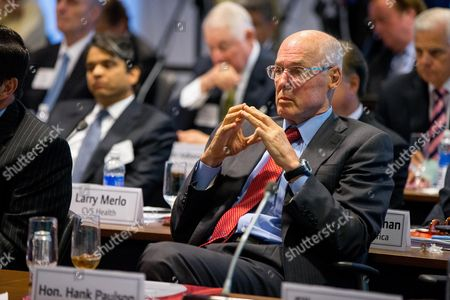 Henry Paulson Former Treasury Secretary Henry Paulson listens as President Barack Obama speaks to business leaders at the quarterly meeting of the Business Roundtable in Washington, to renew his calls for increased spending in infrastructure, education and scientific research