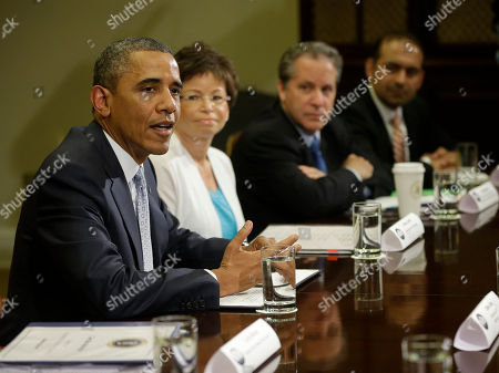 Barack Obama, Valerie Jarrett, Gene Sperling, Dilawar Syed President Barack Obama, left, during his meeting in the Roosevelt Room of the White House in Washington with CEOs, business owners and entrepreneurs to discuss immigration reform, . Seated with Obama are from left to right, Valerie Jarrett, Senior White House Advisor, Gene Sperling, National Economic Council Director and Dilawar Syed, CEO Yonja Media Group. Obama hosted the meeting to discuss the importance of commonsense immigration reform including the Congressional Budget Office analysis that concludes immigration reform would promote economic growth and reduce the deficit