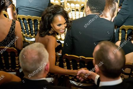 Kerry Washington Actress Kerry Washington greets another guest at the 2015 Kennedy Center Honors reception in the East Room of the White House, in Washington. The 2015 Kennedy Center Honors Honorees are singer-songwriter Carole King, filmmaker George Lucas, actress and singer Rita Moreno, conductor Seiji Ozawa, and actress Cicely Tyson