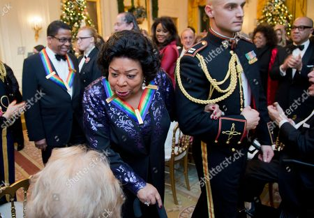Martina Arroyo Recipient of the 2013 Kennedy Center Honors opera singer Martina Arroyo, left, leaves a reception honoring the 2013 Kennedy Center Honors honorees, in the East Room of the White House in Washington