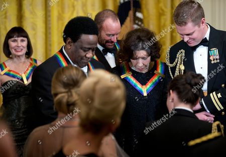 Patricia McBride, Al Green, Sting, Lily Tomlin Honorees ballerina Patricia McBride, from left, singer Al Green, singer-songwriter Sting, and comedienne Lily Tomlin, are from the East Room of the White House in Washington at the conclusion of a reception honoring the 2014 Kennedy Center Honors Honorees, hosted by President Barack Obama and first lady Michelle Obama