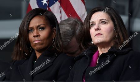 Michelle Obama, Victoria Reggie Kennedy First lady Michelle Obama, left, and Victoria Reggie Kennedy, right, listen during the dedication of the Edward M. Kennedy Institute for the United States Senate, in Boston. The $79 million Edward M. Kennedy Institute for the United States Senate dedication is a politically star-studded event attended by President Barack Obama, Vice President Joe Biden and past and present senators of both parties. It sits next to the presidential library of Kennedy's brother, John F. Kennedy