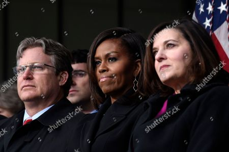 Ted Kennedy Jr., Michelle Obama, Victoria Reggie Kennedy First lady Michelle Obama, center, flanked by Connecticut State Sen.Ted Kennedy, Jr., left, and Victoria Reggie Kennedy, right, listen during the dedication of the Edward M. Kennedy Institute for the United States Senate, in Boston. The $79 million Edward M. Kennedy Institute for the United States Senate dedication is a politically star-studded event attended by President Barack Obama, Vice President Joe Biden and past and present senators of both parties. It sits next to the presidential library of Kennedy's brother, John F. Kennedy