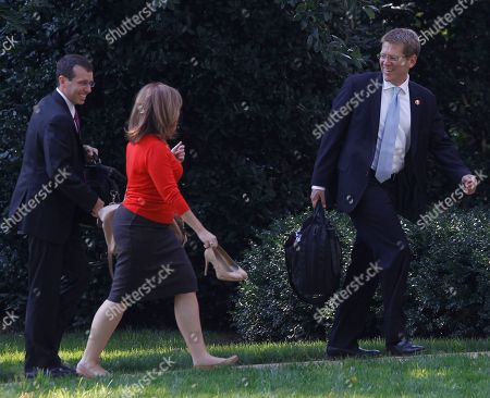 Alyssa Mastromonaco, David Plouffe, Jay Carney Deputy Chief of Staff Alyssa Mastromonaco, center, walks with senior adviser David Plouffe, left, and Press Secretary Jay Carney after they returned with President Barack Obama on the South Lawn at the White House in Washington, after a trip to Raleigh, N.C., where he spoke about the jobs bill