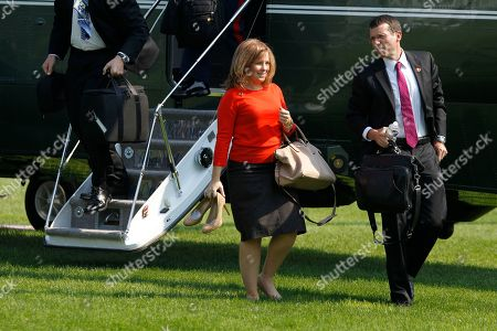 Alyssa Mastromonaco, David Plouffe Deputy Chief of Staff Alyssa Mastromonaco, left, walks with senior adviser David Plouffe after they returned with President Barack Obama on the South Lawn at the White House in Washington, after a trip to Raleigh, N.C., where he spoke about the jobs bill