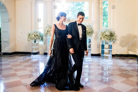 Allison Williams, Ricky Van Veen Actress Allison Williams and her husband Ricky Van Veen arrive for a state dinner for Nordic leaders at the White House in Washington, . Nordic leaders are at the White house for a U.S.-Nordic Summit on security and economic issues followed by a State Dinner