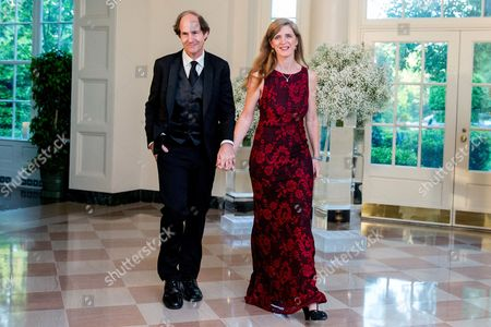 Cass Sunstein, Samantha Power U.S. Ambassador to the United Nations Samantha Power and her husband Cass Sunstein as they arrive for a state dinner for Nordic leaders at the White House in Washington, . Nordic leaders are at the White house for a U.S.-Nordic Summit on security and economic issues followed by a State Dinner