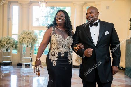 Glodean White, MacKevin Andre White Singer Glodean White, left, the wife of Barry White, and MacKevin Andre White, right, arrive for a state dinner for Nordic leaders at the White House in Washington, . Nordic leaders are at the White House for a U.S.-Nordic Summit on security and economic issues followed by a state dinner