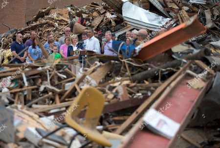 Editorial photo of Obama Oklahoma Tornado, Moore, USA
