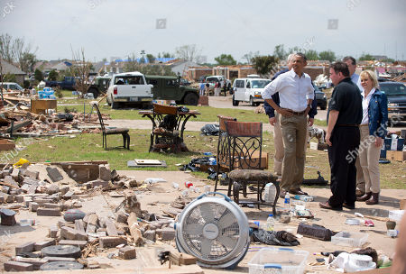 Barack Obama, Glenn Lewis, Mary Fallin President Barack Obama views the devastation of Moore, Okla., with Mayor Glenn Lewis, second from left in black shirt, and Oklahoma Gov. Mary Fallin, right, in Moore, Okla. The town was devastated the week before by a massive tornado and severe weather