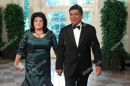 George Lopez, Ann M. Lopez George Lopez and Ann M. Lopez arrive for the State Dinner for Mexican President Felipe Calderon, at the White House in Washington