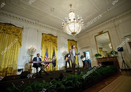 Stock Photo of Nate Ruess Nate Ruess, lead singer of the band FUN, performs in the East Room of the White House in Washington during a ceremony for the 2016 National Teacher of the Year Honorees