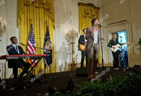 Nate Ruess Nate Ruess, lead singer of the band FUN, performs in the East Room of the White House in Washington during a ceremony for the 2016 National Teacher of the Year Honorees