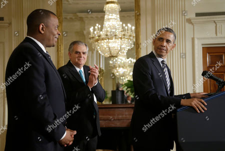 Barack Obama, Anthony Foxx, Ray LaHood President Barack Obama looks toward Charlotte, N.C., Mayor Anthony Foxx, left, in the East Room of the White House in Washington, where he announced he would nominate Foxx to succeed Ray LaHood, center, as transportation secretary