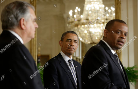 Barack Obama, Anthony Foxx, Ray LaHood President Barack Obama and Transportation Secretary Ray LaHood, left, listen as Charlotte, NC., Mayor Anthony Foxx speaks in the East Room of the White House in Washington, where the president announced he would nominate Foxx to succeed LaHood