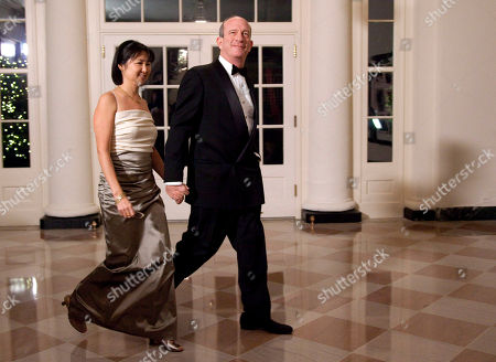 Steve Ballmer, Connie Ballmer Architect Maya Lin and Daniel Wolf arrive at the White House in Washington, for a state dinner in honor of China's President Hu Jintao