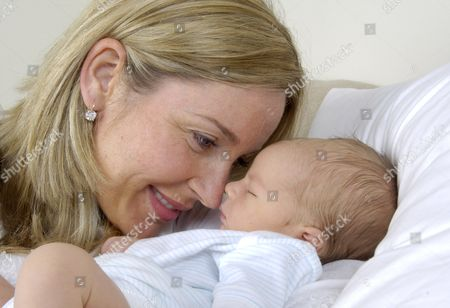 Sarah Heaney with her baby son Eddie who was born on the 17th of June