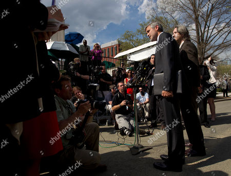 George Clooney, John Prendergast Actor George Clooney, accompanied by activist John Prendergast of the Enough Project, right, speaks to reporters outside the White House in Washington, after a meeting with President Barack Obama