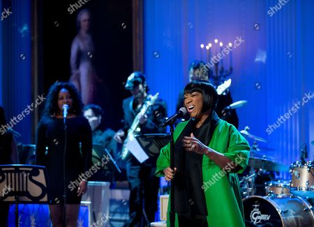 """Patti LaBelle Patti LaBelle sings """"Over the Rainbow"""" during the """"In Performance at the White House: Women of Soul"""" in the East Room of the White House in Washington, hosted by President Barack Obama and first lady Michelle Obama. The program include performances by Tessanne Chin, Melissa Etheridge, Aretha Franklin, Ariana Grande, Janelle Monáe and Jill Scott"""