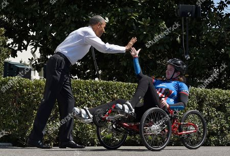 Editorial picture of Obama Wounded Warrior Ride, Washington, USA