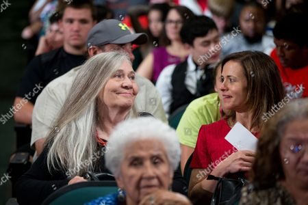 Marilynne Robinson Pulitzer Prize winning Iowa writer Marilynne Robinson, left, sits in the audience before President Barack Obama takes the stage for a town hall with high school juniors, seniors and their parents at North High School in Des Moines, to discuss college access and affordability