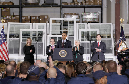 Barack Obama, Gene Sperling, Jason Furman, Heather Higginbottom, Katharine Abraham President Barack Obama announces Gene Sperling, second from left, as the new director of the National Economic Council, while speaking about the economy at Thompson Creek Manufacturing, which makes custom replacement windows, in Landover, Md. From left are: Heather Higginbottom, nominee for Deputy Director, Office of Management and Budget; Sperling; the president; Katharine G. Abraham, nominee for member, Council of Economic Advisers; Jason Furman, Principal Deputy Director of the National Economic Council