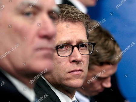 William Daley, Jay Carney White House Press Secretary Jay Carney, center, and White House Chief of Staff William Daley, left, listen during President Barack Obama's news conference the White House briefing room in Washington