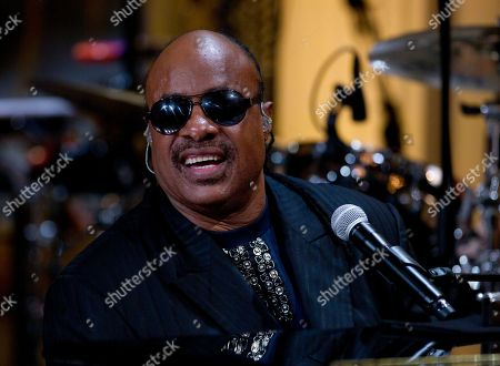 "Stevie Wonder Stevie Wonder performs during the ""In Performance at the White House"" in the East Room of the White House, in Washington, honoring songwriters Burt Bacharach and Hal David, recipients of the 2012 Library of Congress Gershwin Prize for Popular Song"