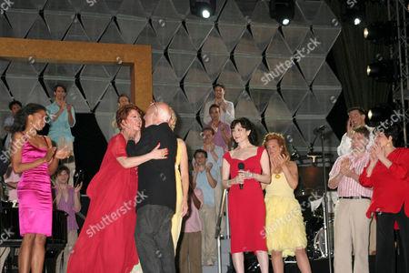 Donna McKechnie, Hal Prince, Bebe Neuwirth and Liza Minnelli