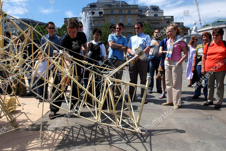 Editorial photo of 'Strandbeests' by Theo Jansen, Trafalgar Square, London, Britain - 24 June 2006