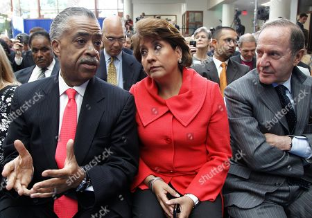 Al Sharpton, Janet Murguia, Mort Zuckerman From left, Rev. Al Sharpton, Janet Murguia, President and CEO, National Council of La Raza, and Mort Zuckerman, Chief Executive Officer of U.S. News and World Report, wait for President Obama, who spoke about immigration reform, at American University in Washington