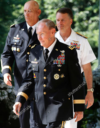Ray Odierno, Martin Dempsey, James Winnefeld President Obama's nominee for the next Chairman of the Joint Chiefs of Staff Army Gen. Martin Dempsey, nominee Adm. James Winnefeld, right, to be vice chairman of the Joint Chiefs, and Gen. Ray Odierno, left, to be Army Chief of Staff walk to a Rose Garden announcement ceremony at the White House in Washington