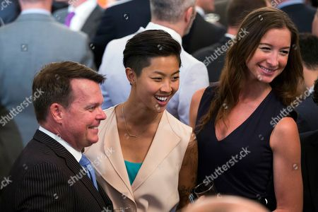 Kristen Kish Top Chef winner Kristen Kish, center, and her girlfriend Jacqueline Westbrook, right, pose for photos during a reception to celebrate LGBT Pride Month in the East Room of the White House,, in Washington