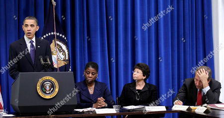 Barack Obama, Ursula Burns, Valerie Jarrett, Ursula Burns President Barack Obama holds a meeting with the President's Export Council, in the Executive Office Building, on the White House campus in Washington. From right are, Nationals Economic Council Director Lawrence Summers, White House Senior Adviser Valerie Jarrett, and Xerox CEO Ursula Burns