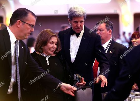 John Kerry, Teresa Heinz Kerry Secretary of State John Kerry, second from right, and his wife Teresa Heinz Kerry, second from left, arrive at the annual White House Correspondents' Association dinner at the Washington Hilton, in Washington