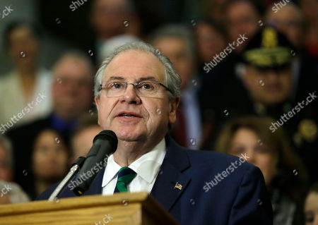 Robert DeLeo House Speaker Robert DeLeo speaks after Mass. Gov. Charlie Baker signed sweeping legislation aimed at reversing a deadly opioid addiction crisis, during a signing ceremony at the Statehouse, in Boston