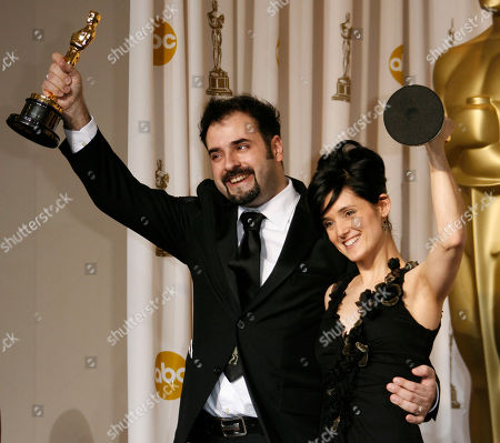 "David Marti, Montse Ribe David Marti and Montse Ribe hold the Oscar for achievement in makeup for their work on ""Pan's Labyrinth"" during the 79th Academy Awards, in Los Angeles"