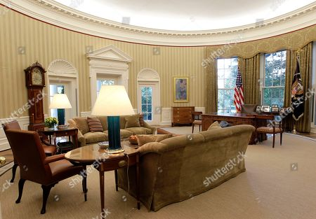 Google Office Usa Wallpaper Throughout Renovations To The Oval Office Including New Carpet Drapes Wallpaper And Furniture Drapes Stock Pictures Editorial Images Photos Shutterstock