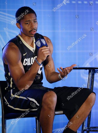 Spencer Dinwiddie Colorado's Spencer Dinwiddie answers questions during the Pac-12 NCAA college basketball media day, in San Francisco