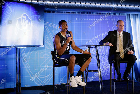 Spencer Dinwiddie, Tad Boyle Colorado's Spencer Dinwiddie, left, and coach Tad Boyle answer questions during the Pac-12 NCAA college basketball media day, in San Francisco