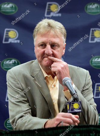 Larry Bird Larry Bird, Indiana Pacers president of basketball operations, talking about the teams future during a news conference in Indianapolis. The Indianapolis Star is reporting that Larry Bird is leaving the Indiana Pacers. The newspaper reported the move, citing an unidentified person with direct knowledge of the situation, and said Bird was meeting with team owner Herb Simon. The Pacers and Simon declined comment on the report