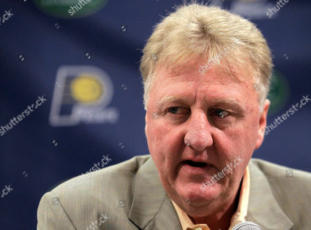 Larry Bird Larry Bird, Indiana Pacers president of basketball operations talks about the teams future during a news conference in Indianapolis, . The Pacers took major strides this season -- posting the third best record in the Eastern Conference and winning their first playoff series in seven years