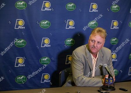 Larry Bird Indiana Pacers president Larry Bird listens to a question during a news conference, in Indianapolis. The Pacers lost to the Miami Heat in the conference finals