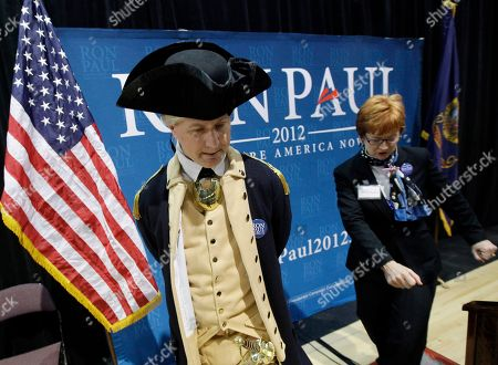 Stock Image of Ron Paul, Paul Nelson O'Leary Paul Nelson O'Leary, at left, waits for Republican presidential candidate Rep. Ron Paul, R-Texas, to arrive at CenturyLink Arena in Boise, Idaho
