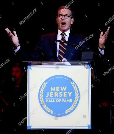 Brian Williams Television journalist Brian Williams talks after being inducted into the New Jersey Hall of Fame, in Asbury Park, N.J. Among the inductees were actor James Gandolfini, who played the lead role in the cable series The Sopranos