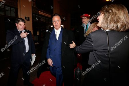 """Stock Image of Tony Sirico Tony Sirico, center, who played the role of Paulie """"Walnuts"""" Gualtieri in the cable series The Sopranos, arrives at the Asbury Park Conventional Hall during red carpet arrivals prior to the New Jersey Hall of Fame inductions, in Asbury Park, N.J. James Gandolfini, who played the lead role in The Sopranos, will be inducted in to the hall of fame during the event"""