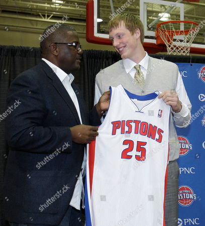 Kyle Singler, Joe Dumars Detroit Pistons draft pick Kyle Singler stands with team president of basketball operations Joe Dumars after being introduced to the media at the team's practice facility in Auburn Hills, Mich